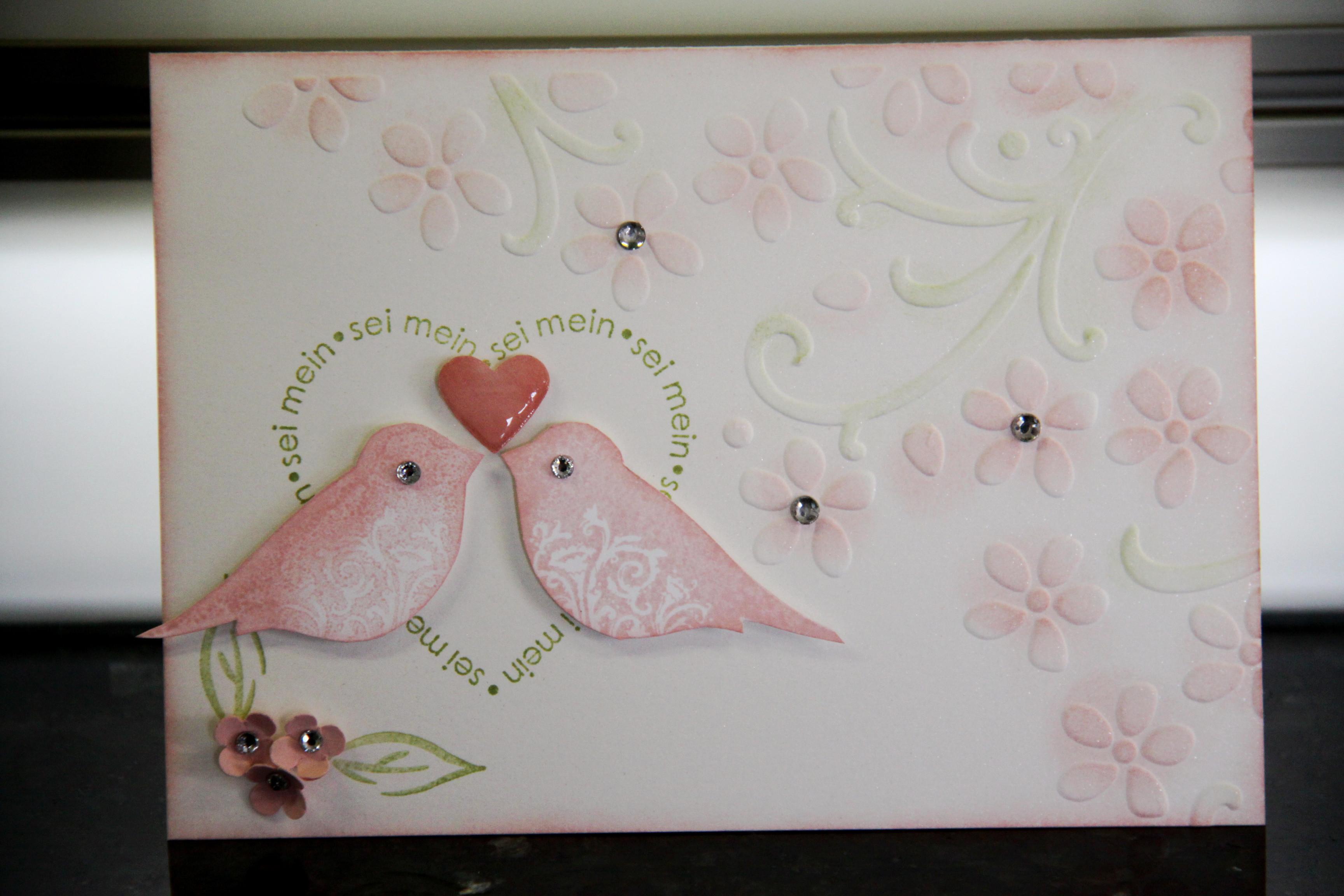 Hochzeitskarten Stampin Up  Noch mehr Hochzeitskarten mit Stampin UP Spiegelverkehrt