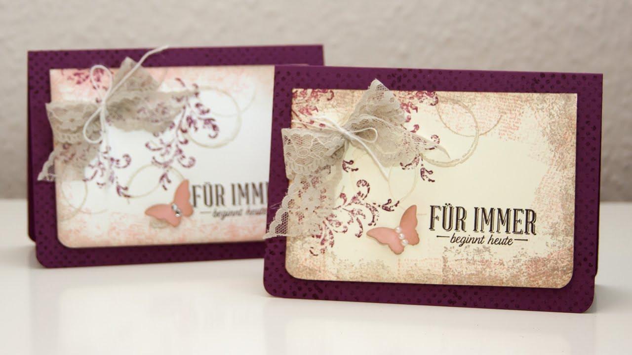 Hochzeitskarten Stampin Up  Hochzeitskarte im Vintage Design Stampin Up