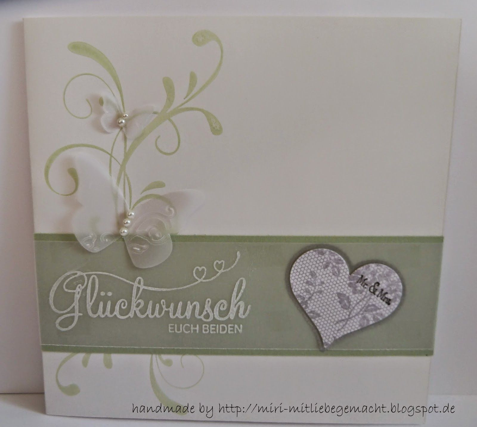 Hochzeitskarten Stampin Up  Hochzeitskarte mit Stampin Up Verwendete Stempelsets