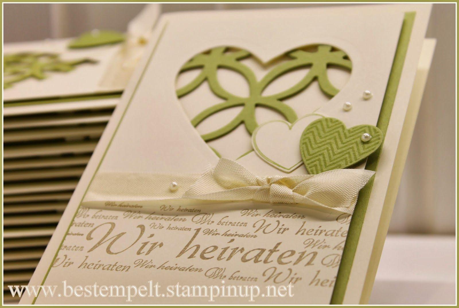 Hochzeitskarten Stampin Up  Die fertigen Hochzeitskarten