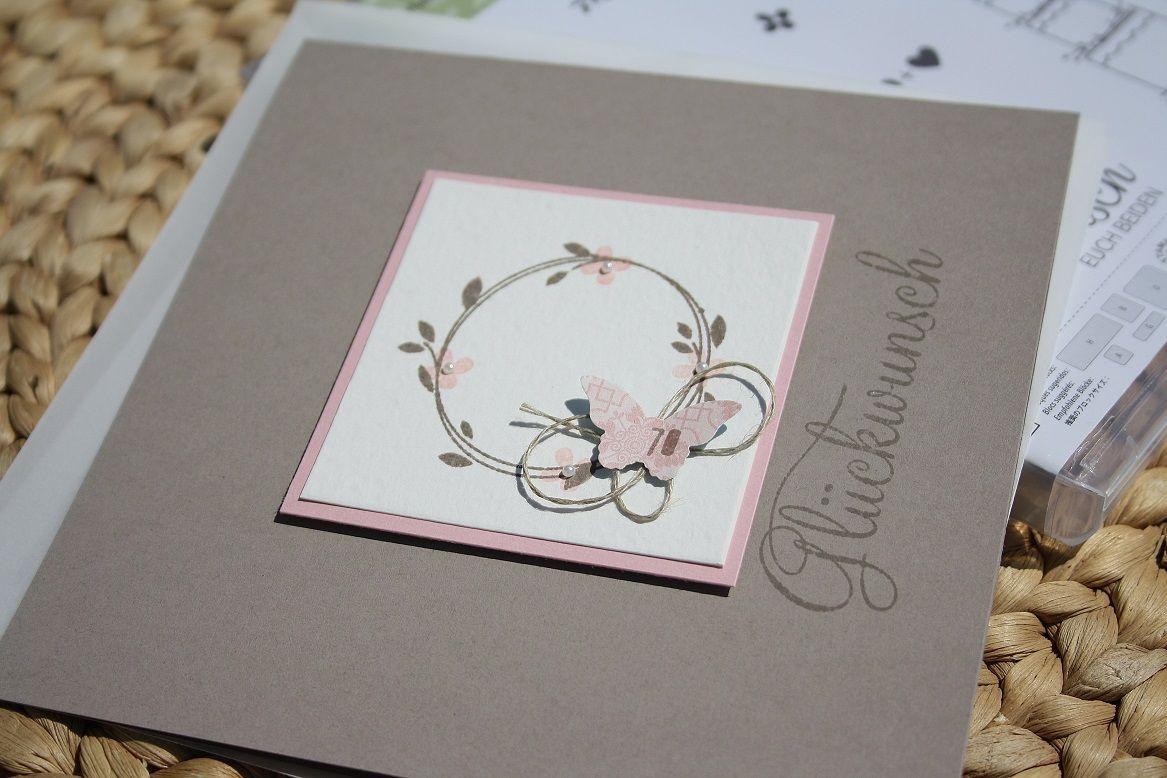 Hochzeitskarten Stampin Up  Hochzeitskarte stampin up Pinterest