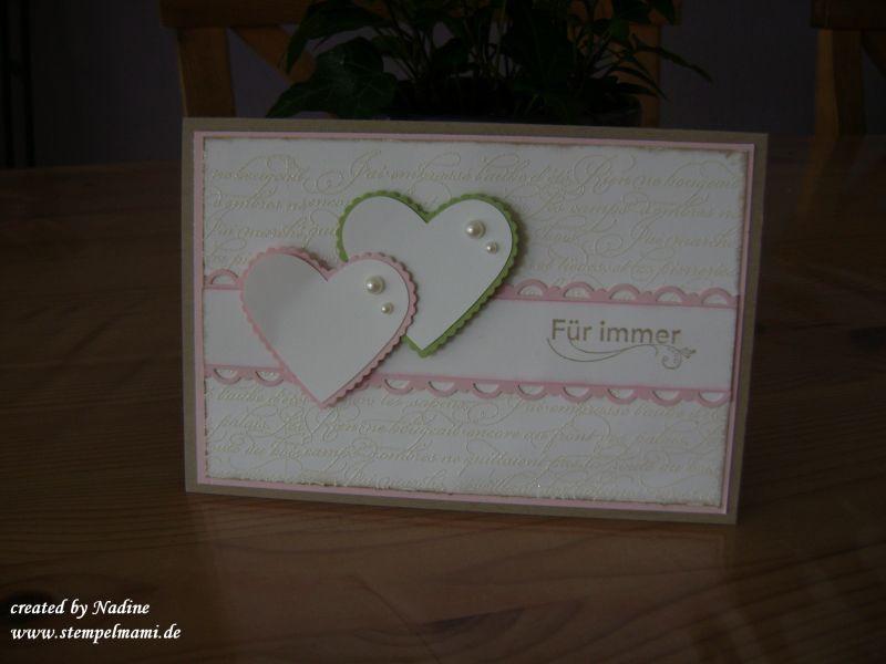 Hochzeitskarten Stampin Up  Hochzeitskarten Basteln mit Stampin Up