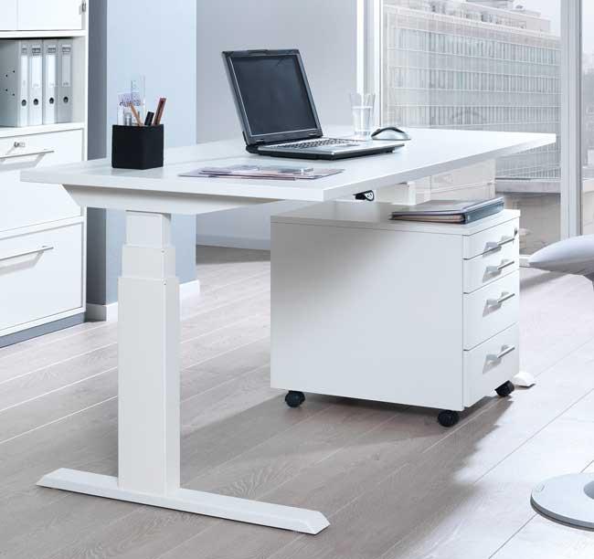 Höhenverstellbarer Schreibtisch Elektrisch  Wellemöbel Up&Down3 elektrisch höhenverstellbarer