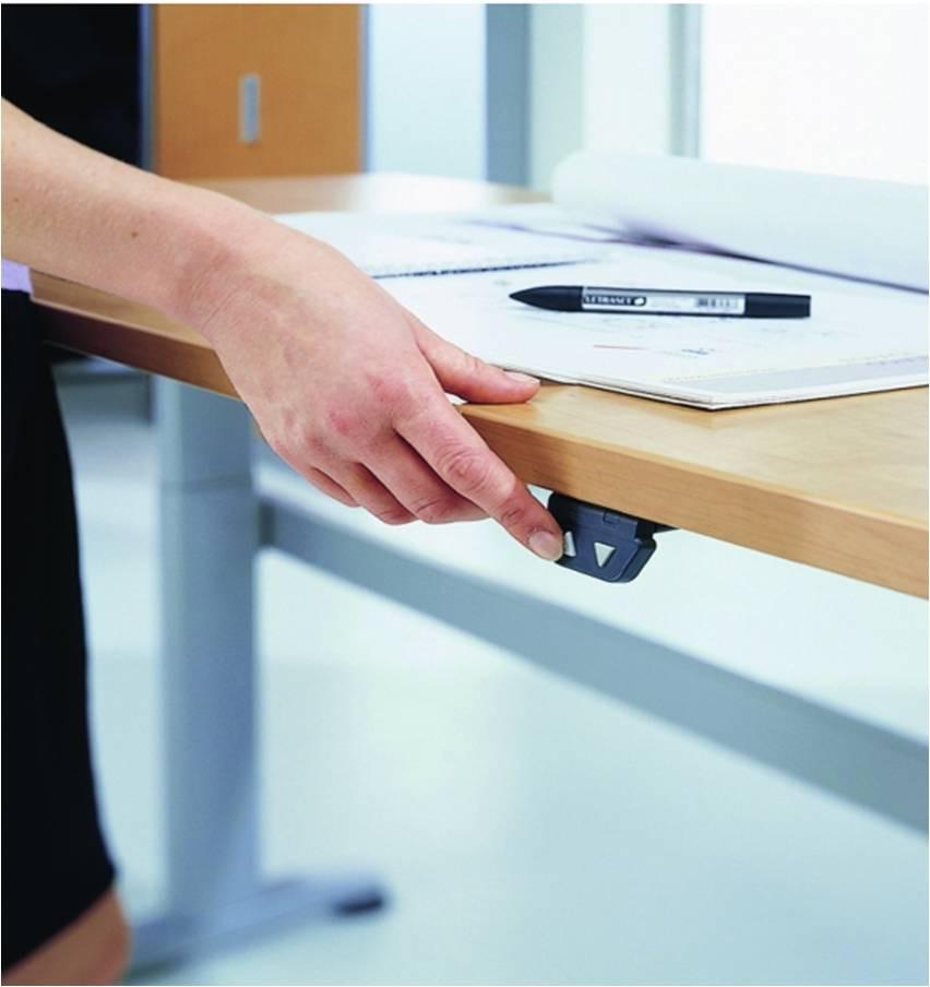 Höhenverstellbarer Schreibtisch Elektrisch  Elektrisch höhenverstellbarer Schreibtisch Buche Art