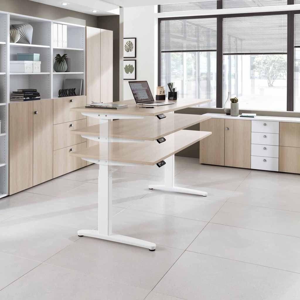 Höhenverstellbarer Schreibtisch Elektrisch  Elektrisch höhenverstellbarer Schreibtisch Rasanto XBHM