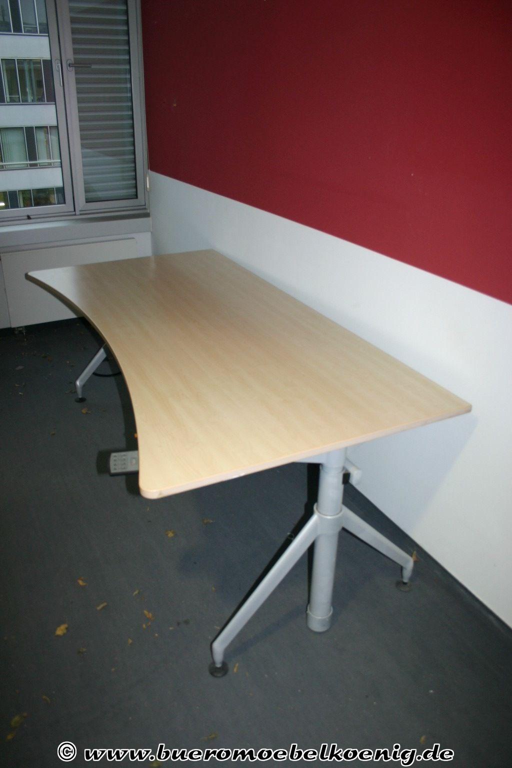 Höhenverstellbarer Schreibtisch Elektrisch  Elektrisch höhenverstellbarer Schreibtisch von Werndl in Ahorn