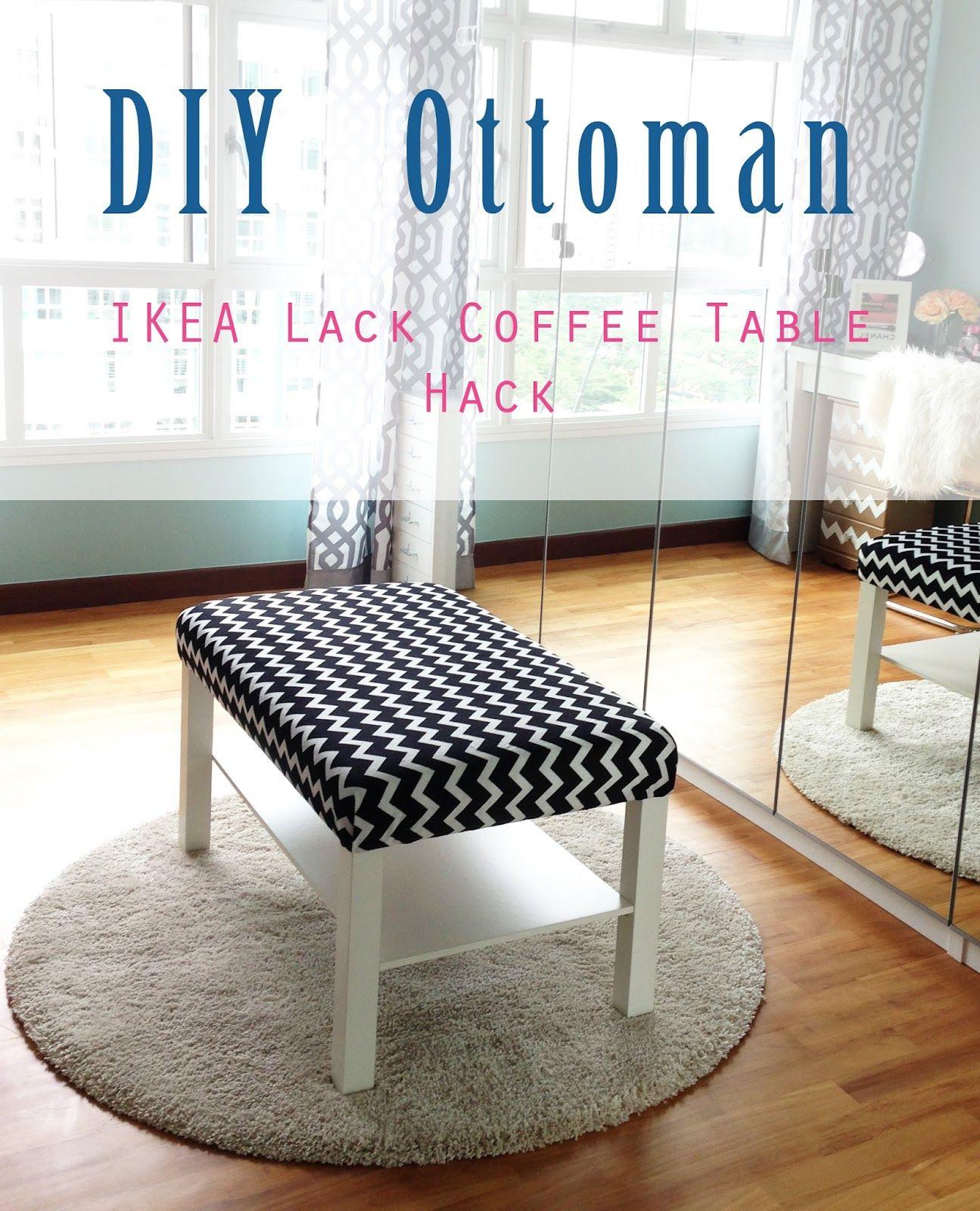 Ikea Lack Diy  Home Style Organize DIY Ottoman IKEA Lack Coffee