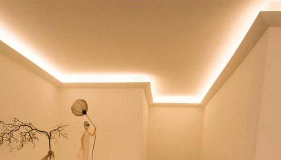 Indirekte Beleuchtung Decke  Indirekte Beleuchtung der Decke mit Stuckleisten