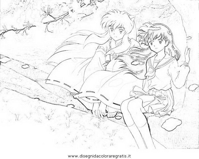 Inuyasha Ausmalbilder  Disegno inuyasha 22 personaggio cartone animato da colorare