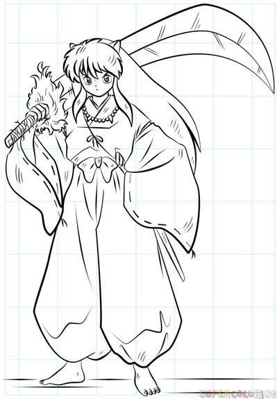 Inuyasha Ausmalbilder  How to draw Inuyasha