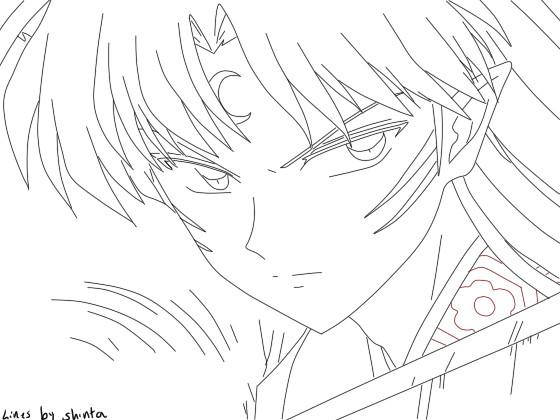 Inuyasha Ausmalbilder  Angry Sesshomaru by Shinta Inu on DeviantArt