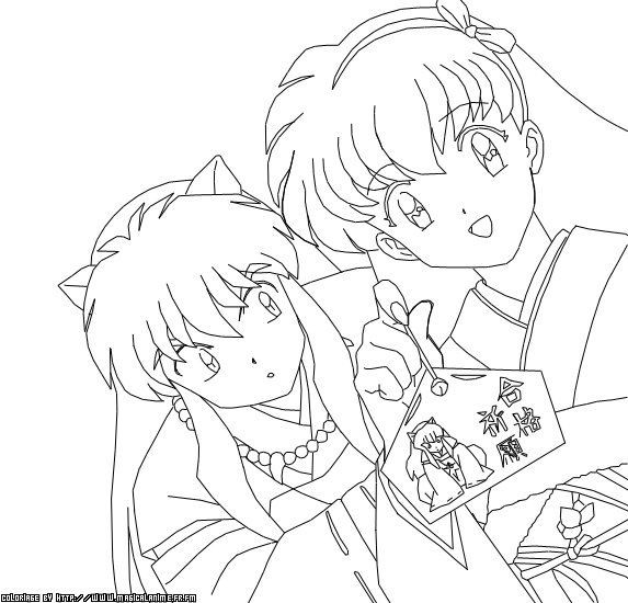 Inuyasha Ausmalbilder  40 best images about inuyasha coloring pages on Pinterest