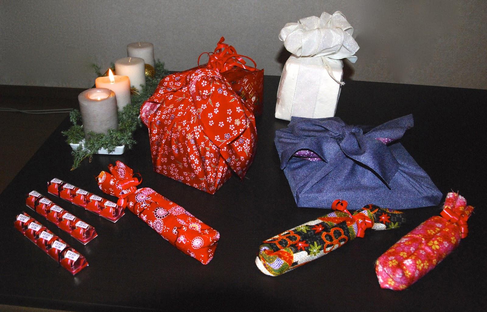 Japanische Geschenke  Furoshiki japanisch Geschenke verpacken