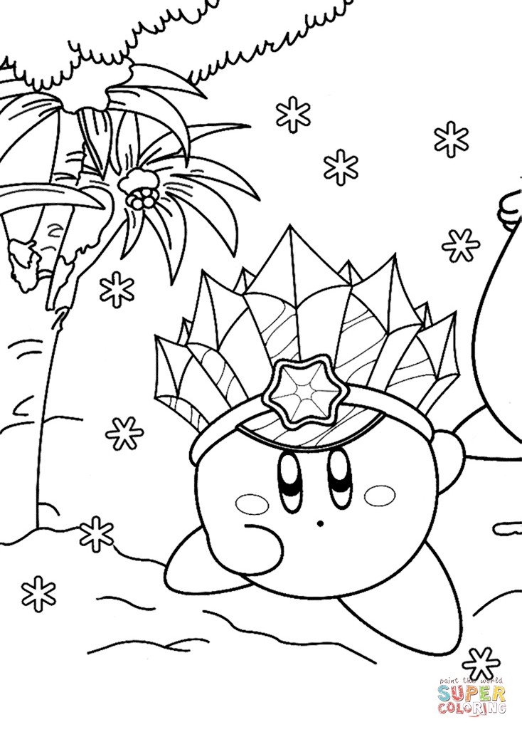 Kirby Ausmalbilder  Ice Kirby coloring page