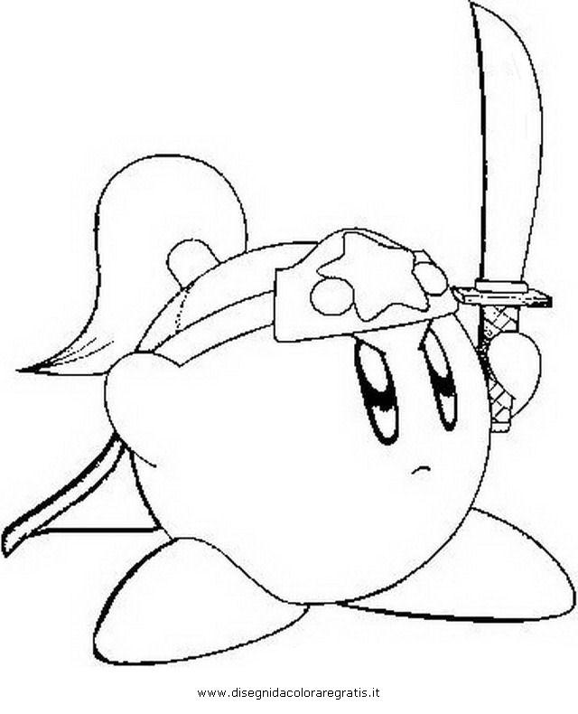 Kirby Ausmalbilder  Disegno kirby 2 misti da colorare