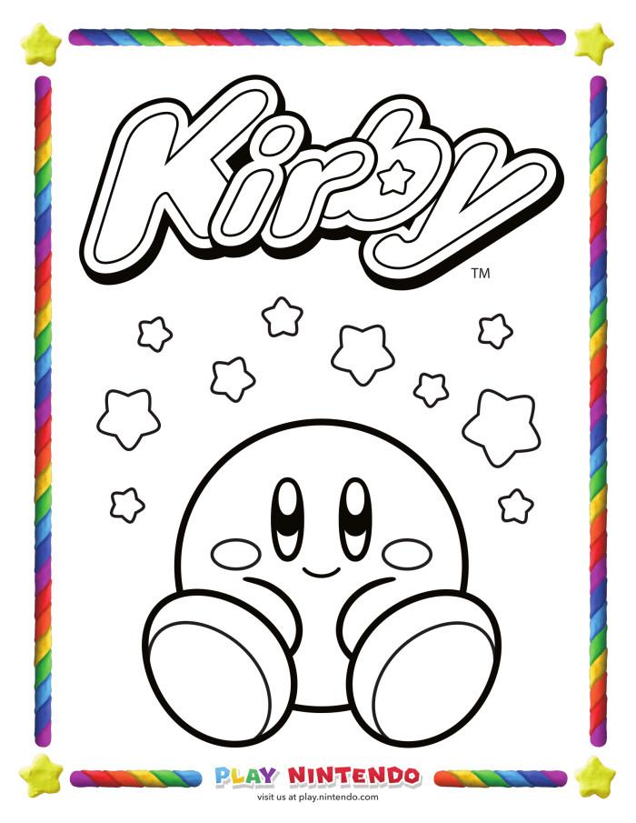 Kirby Ausmalbilder  Todos a colorear con nuestro amigo Kirby