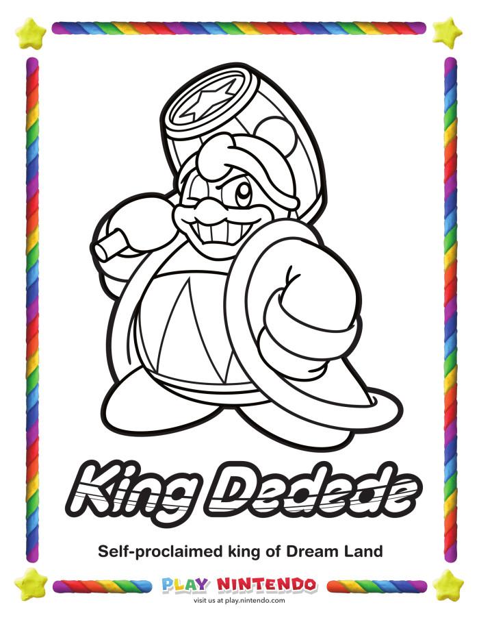 Kirby Ausmalbilder  Spitzt rosa Buntstifte an Nintendo veröffentlicht