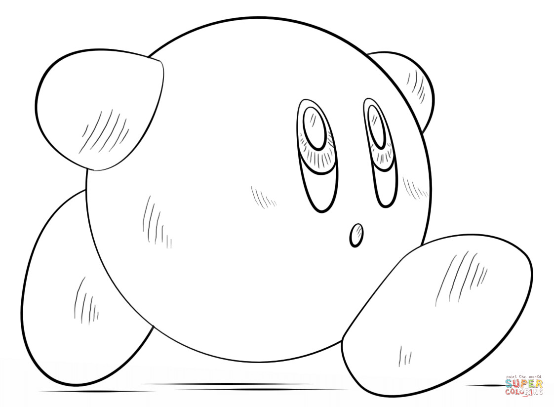 Kirby Ausmalbilder  Ausmalbild Kirby