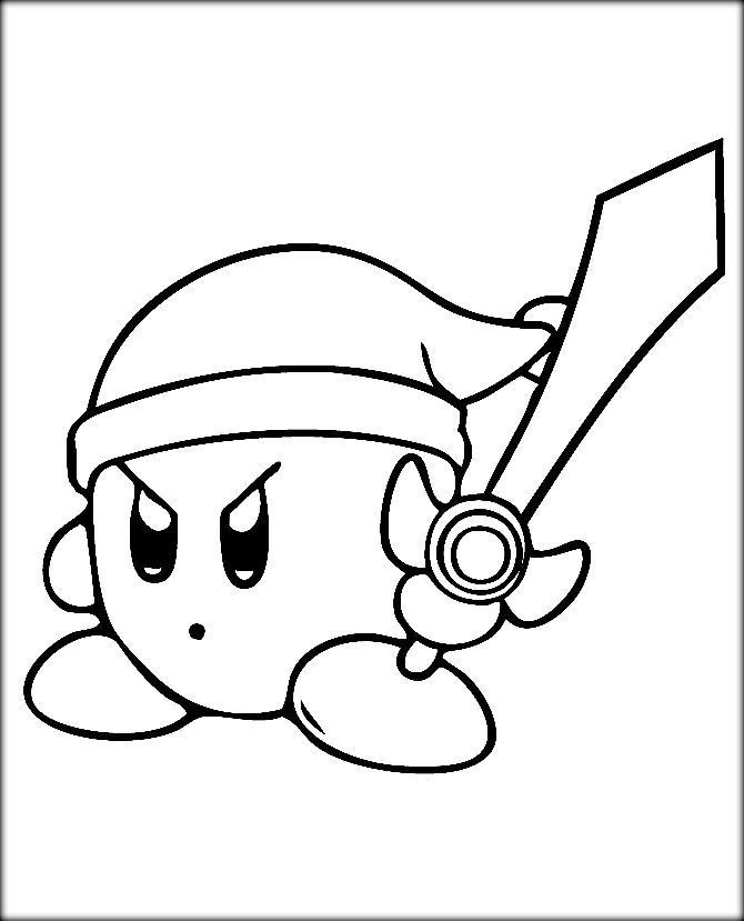 Kirby Ausmalbilder  Kirby Coloring Pages Color Zini