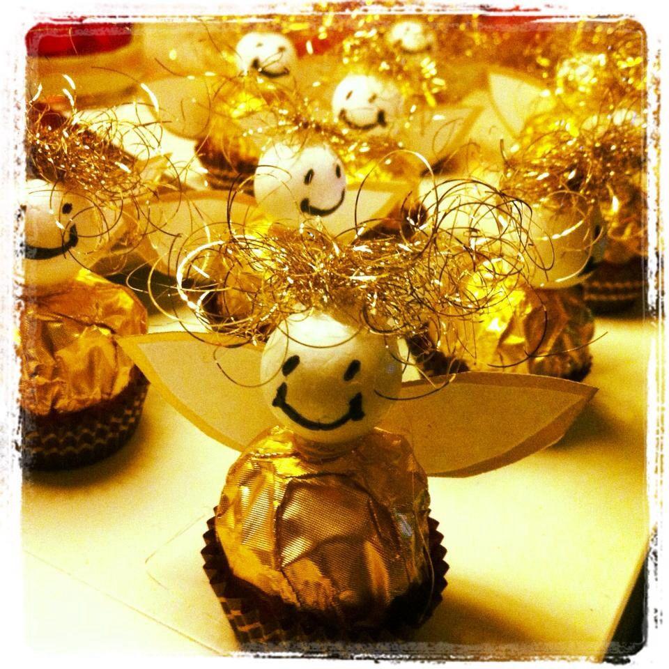 Kleine Geschenke Für Senioren  Weihnachten Ferrero Rocher Engel