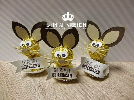 Kleine Geschenke Für Senioren  Ostern Rocher Ostersüßigkeiten Ostern basteln