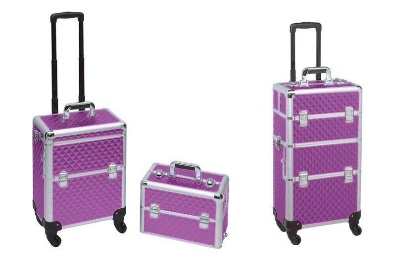 Koffer Nageldesign  myGDN Trolley Koffer fort lila von German Dream Nails