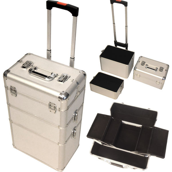 Koffer Nageldesign  Alu Trolley Koffer Nageldesign