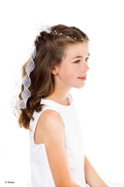 Kommunion Frisuren Mädchen  Stirnkranz zur Kommunion von Weise mit Einsteckkamm