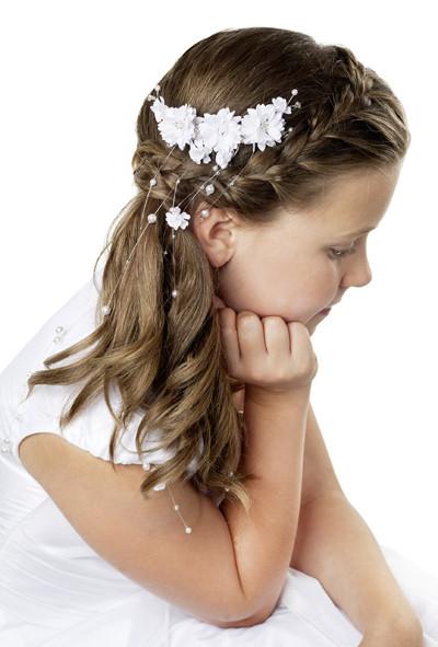 Kommunion Frisuren Mädchen  Kommunion frisuren für lange haare