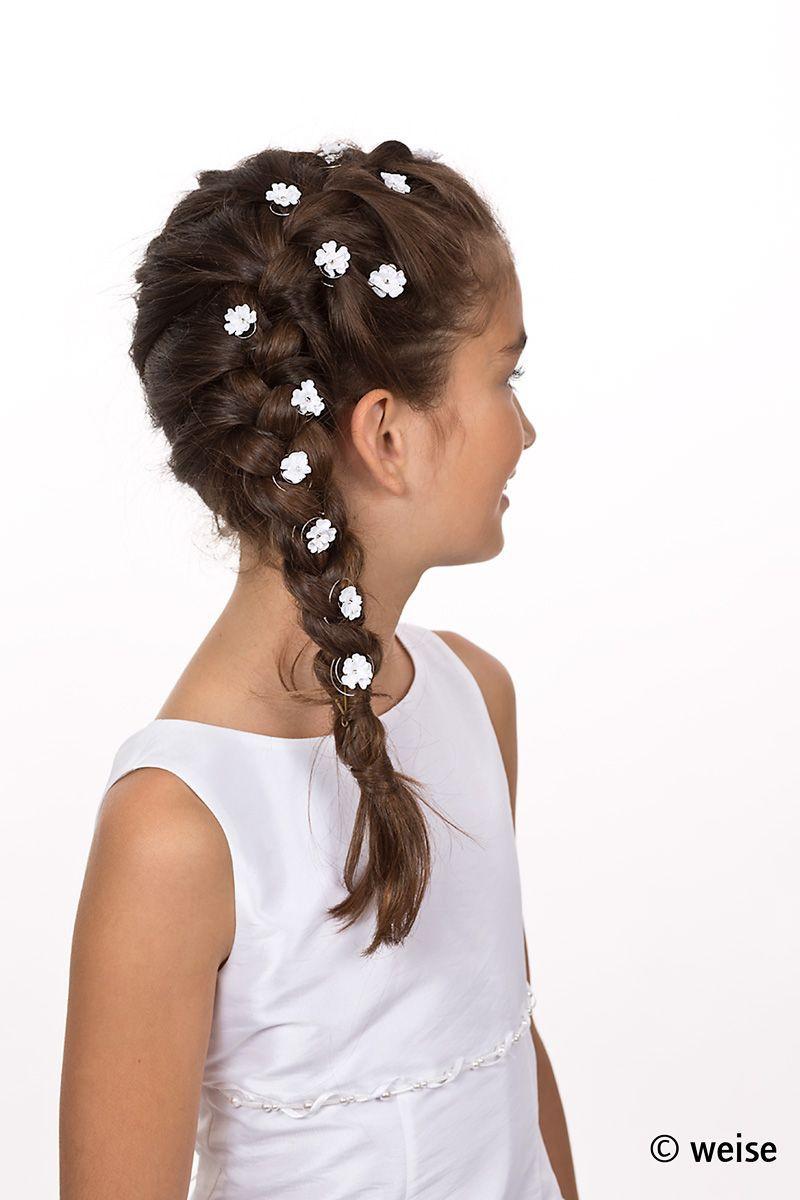 Kommunion Frisuren Mädchen  Pin von Kathrin Vollstedt auf Kommunionfrisuren