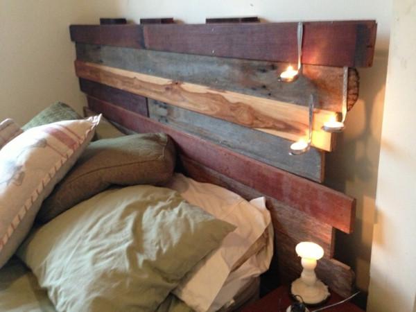 Kopfteil Bett Diy  30 Bett Kopfteil selber machen fördern Sie Ihre Phantasie