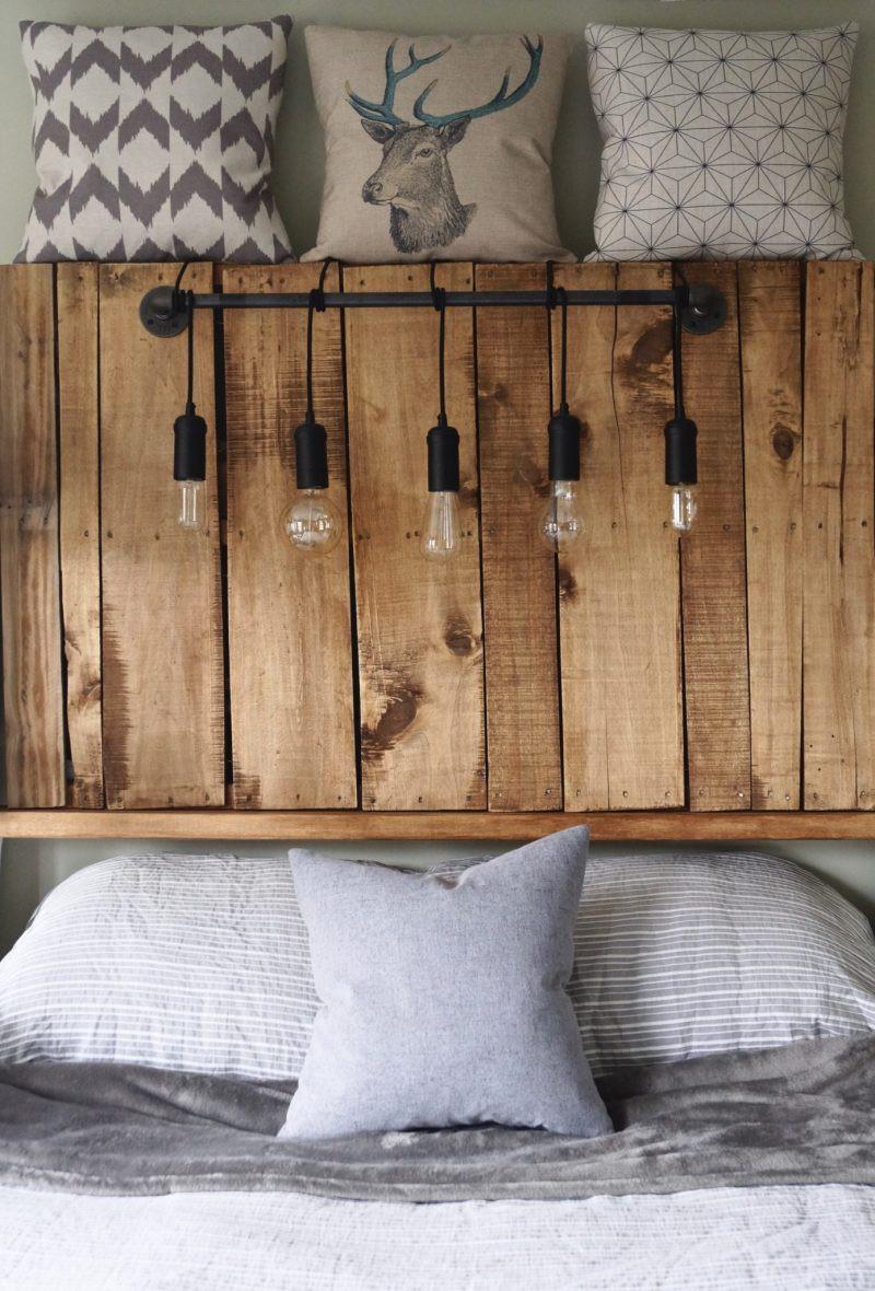 Kopfteil Bett Diy  Kopfteil für Bett aus Europaletten selber bauen DIY