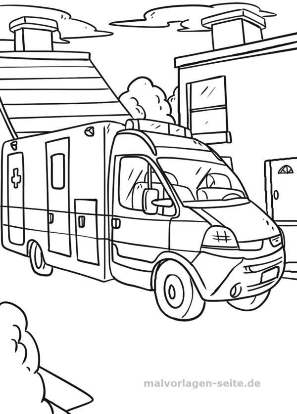 die besten ideen für krankenwagen ausmalbilder  beste