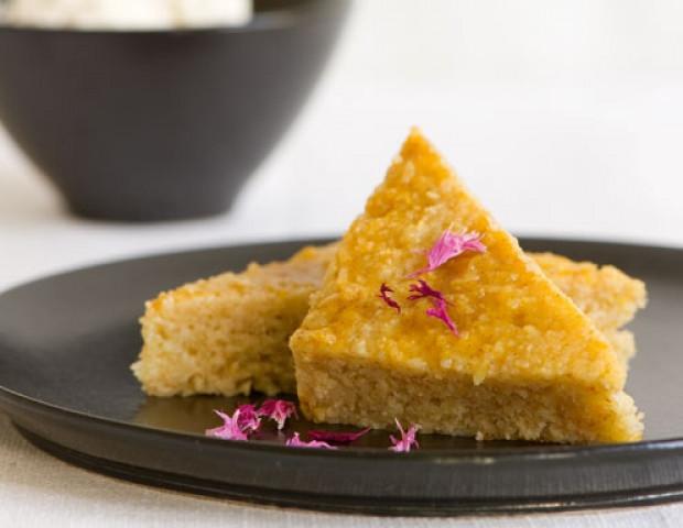 Kuchen Mit Grieß  Grieß Joghurt Kuchen mit Orange Rezept ichkoche