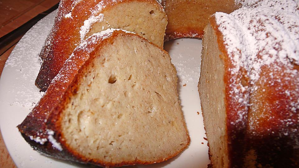 Kuchen Mit Grieß  Bananen Quark Grieß Kuchen Rezept mit Bild