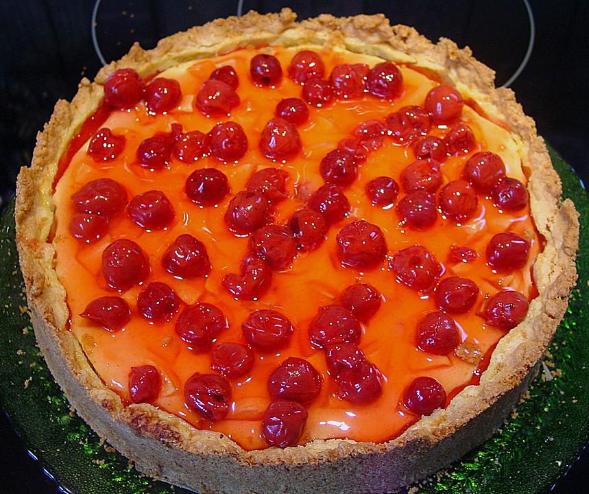Kuchen Mit Grieß  Floo s Quark Grieß Kuchen mit Früchten von floo