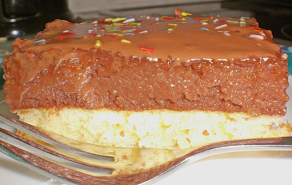 Kuchen Mit Grieß  Schneller Grieß Schoko Kuchen Rezept mit Bild