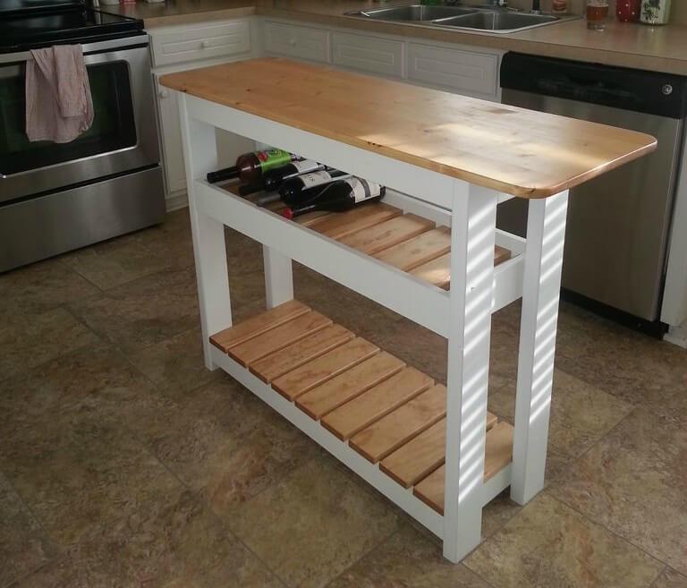 Kücheninsel Diy  DIY Kücheninsel Mit Weinregal Schritt Für Schritt – Home