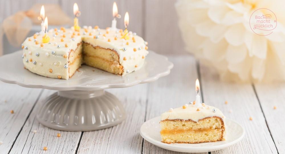 Leckere Geburtstagstorte  Einfache leckere Geburtstagstorte
