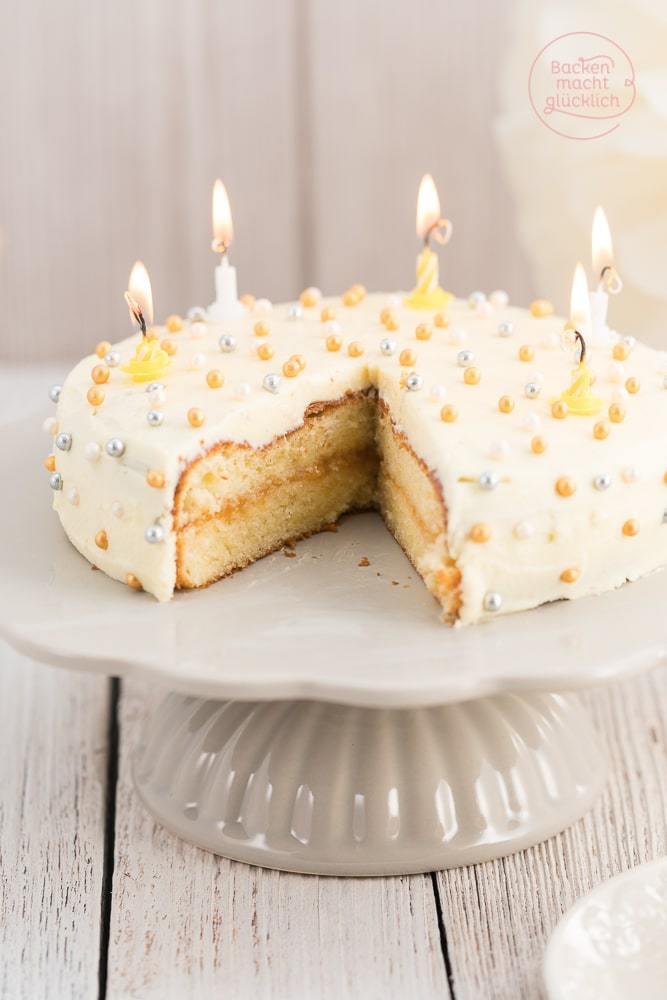 Leckere Geburtstagstorte  Einfache Und Leckere Geburtstagstorte Geburtstagstorten