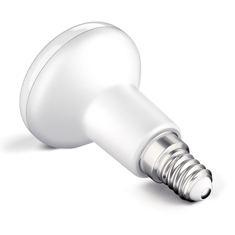 Led Lampen E14  E14 LED Lampe R50 4 6W =35W 380lm 110° weiß von parlat