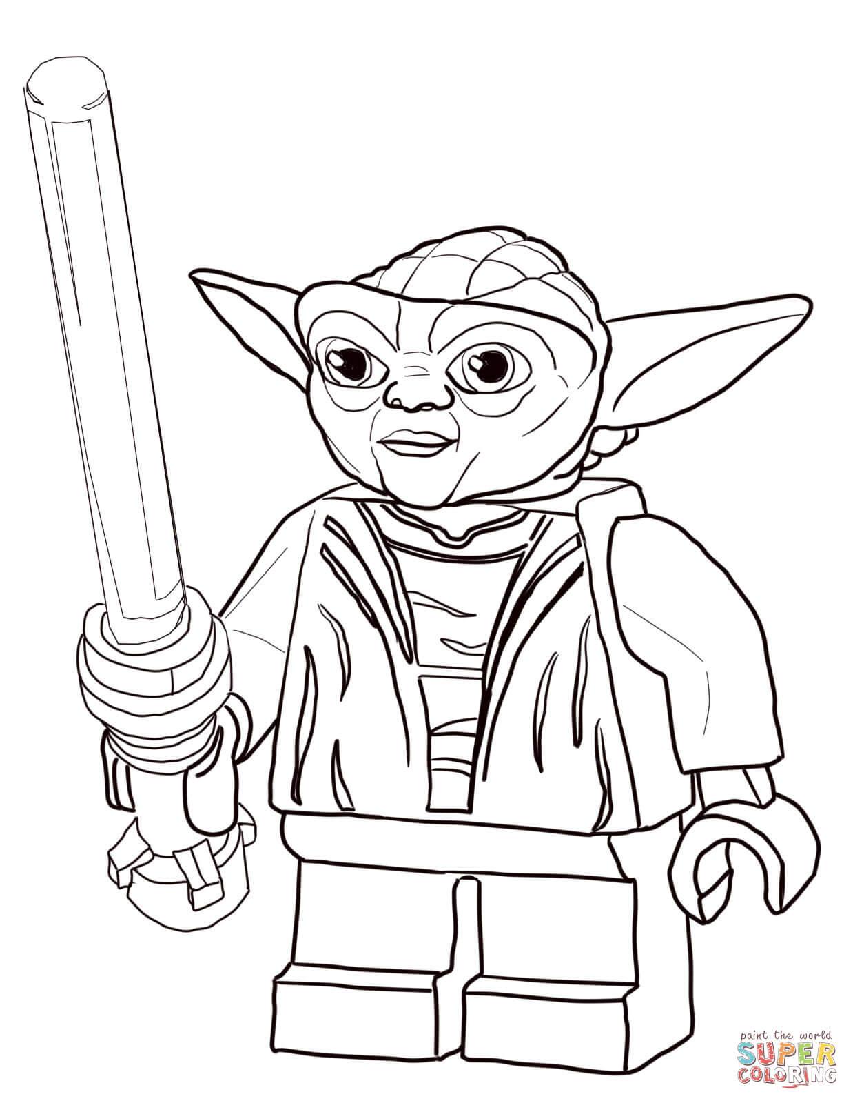 Lego Star Wars Ausmalbilder  Ausmalbild Lego Star Wars Meister Yoda