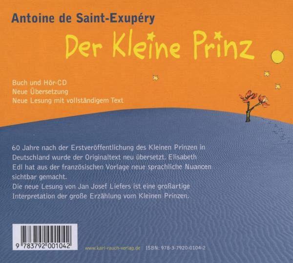 Lesung Hochzeit Der Kleine Prinz  Der Kleine Prinz Buch und CD von Antoine de Saint Exupéry