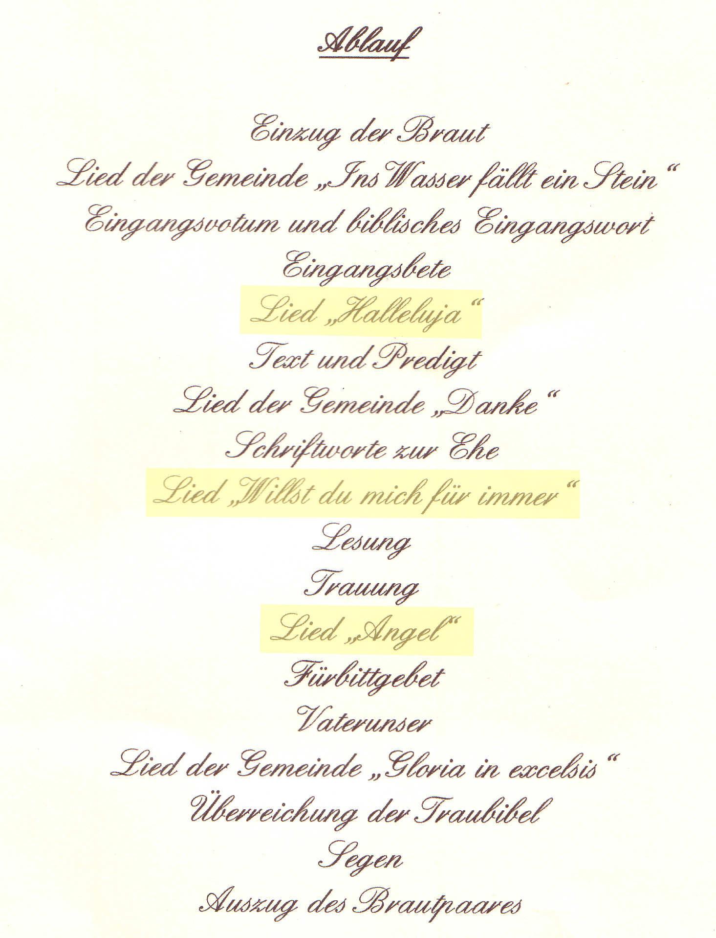 Lieder Zur Hochzeit Kirche  Hochzeit Kirche Lieder