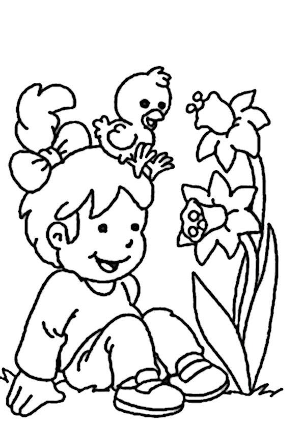Malvorlagen Frühling  Gratis Malvorlagen Frühling