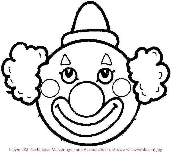 Malvorlagen Gesichter  Clown Malvorlagen Clown 2 Clown Ausmalbilder Ausdrucken