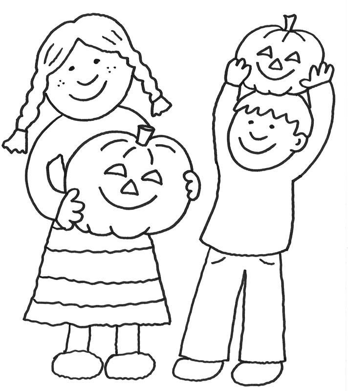 Malvorlagen Halloween  Kostenlose Malvorlage Halloween Kinder an Halloween zum