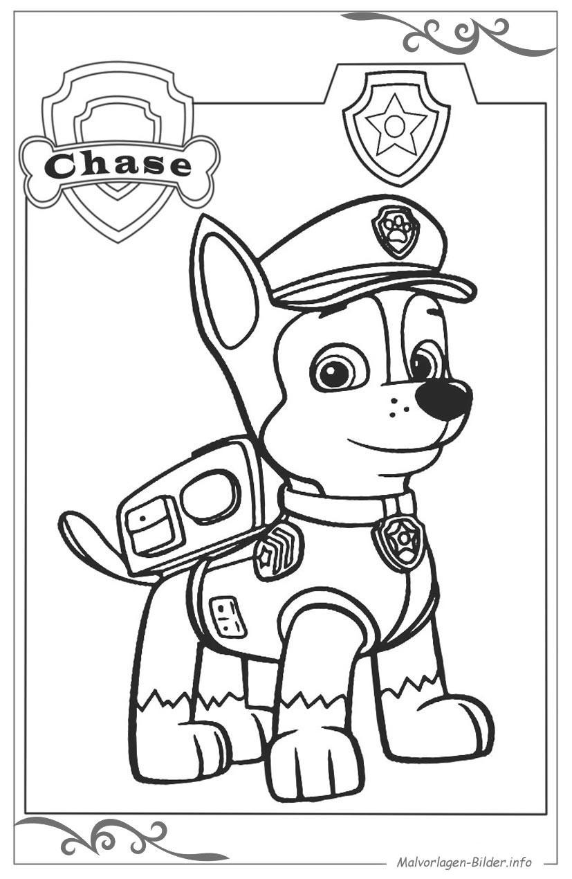 Malvorlagen Paw Patrol  Paw Patrol kostenlose ausmalbilder für kinder zum gratis