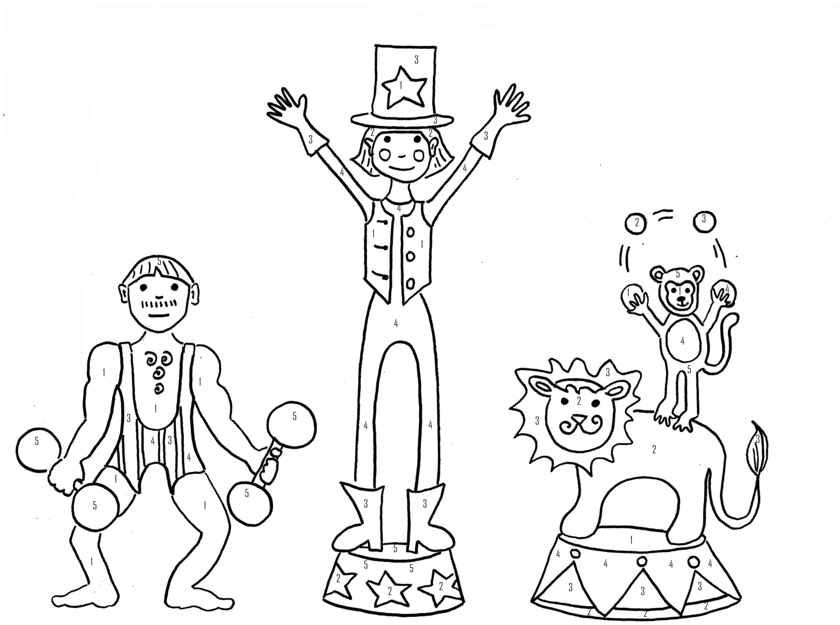 20 der besten ideen für malvorlagen zirkus - beste