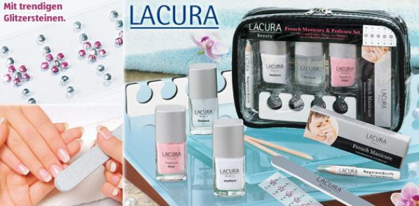 Maniküre Pediküre Set Aldi  LACURA BEAUTY French Manicure & Pedicure Set von Aldi Süd